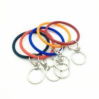 gummiband armbänder clips großhandel-NEUES Silikonkautschuk-O-Band mit Metallclips Silikonarmband Schlüsselbund NEUES Silikonkautschuk-O-Band mit Metallclips Silikonbänder