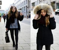 frauen mit kapuze großhandel-Winter schlanke Frauen Daunenjacken dicke lange Ärmel mit Kapuze Womens Parkas Designer weibliche warme lässige Oberbekleidung