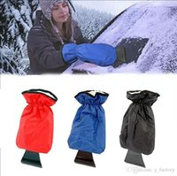 Wholesale snow removal scrapers for sale - Group buy Car Snow Ice Shovel Scraper Glove Removal Clean Tool Warm Gloves Car Ice Scraper Waterproof Gloves Snow Shovel Gloves