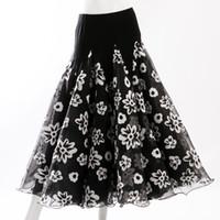 ingrosso fiore zebra-personalizzi la gonna da ballo del fiore del nero le gonne di ballo da ballo per le donne che flamenco la gonna il vestito dal vestito da ballo del vestito dal waltz