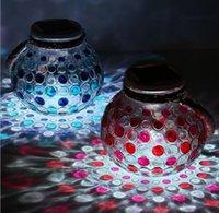 ingrosso luci colorate giardino solare-SOLAR Power light colorato Mason Jar Decorative Light for Garden Luci natalizie indoor Mason Jar LJJK1529