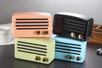ingrosso altoparlante forte mp3-Altoparlante Bluetooth 4 stili vintage mini stile classico Rich Bass Radio Loud Sistema audio stereo Altoparlante portatile senza fili Decorazioni per auto FFA1030