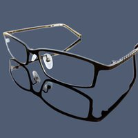 standart çerçeveler toptan satış-İş Standartları Full Titanyum Malzeme Erkek Çerçeveler Full Frames Tasarlanmış Süper Hafif Miyopi Gözlükler Convenence