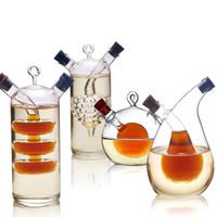 tarros de vinagre de aceite al por mayor-Alta temperatura Botella de especias Aceite y vinagre Galss Botella Salsa Frasco de vidrio Sellado Condimento Almacenamiento de vidrio Botellas de vino para bar