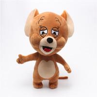 anime fareleri toptan satış-30 cm 12 inç Karikatür Tom Jerry Fare Peluş Oyuncak Sevimli Hamster Hayvan Dolması Peluş Bebekler Çocuklar Hediye için