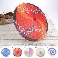 ropa de boda japonesa al por mayor-Artware Oil-paper Umbrella Paraguas de boda Decoración de boda hecha a mano Ropa de madera Accesorios Paraguas de papel japonés