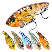 señuelos de pesca 11g al por mayor-5 UNID Cuchilla de Metal VIB Señuelos de Pesca Cuchara Cebo Bajos Bajos 5.4 cm 11g Vibraciones Artificiales