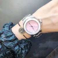 Wholesale ladies summer fashion watches for sale - Group buy 2019 Summer Ladies New Luxury Fashion Stainless Steel Case Watch Strap Princess Powder Mechanical Watch Waterproof Leisure Business