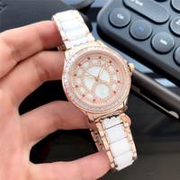 japão relógios mecânicos venda por atacado-Mulher designer de relógios de luxo diamante para fora congelado senhora assistir cerâmica pulseira de safira Japão automáticos relógios mecânicos de movimento