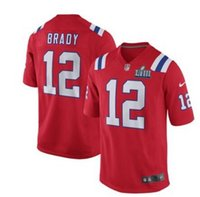 a41a043ac Rob Gronkowski Tom Brady jersey Pro Super Bowl LIII Patriots Nova  Inglaterra Julian Edelman personalizado camisas de futebol americano  autêntico t-shirt
