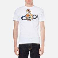 camisas de tiempo al por mayor-Nuevo Streetwear Rare Vivienne Shirt Westwood Men's Orbital Logo T-Shirt Tiempo limitado Unisex Talla S-3Xl