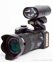 lente livre para dslr venda por atacado-Novo Polo Sharpshots 33MP D7200 Câmera Digital Filmadora HD DSLR Camera Wide Angle Lens 24x Lente Lente de Telefoto Terno de Viagem Versão DHL Livre