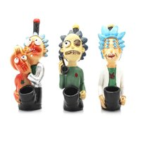 Wholesale tobacco mouthpieces for sale - Group buy Funny Cartoon Resin Pipe Chimney Filter Hand Smoking Pipes Tobacco Pipe Cigar Gifts Narguile Grinder Smoke Mouthpiece VT174