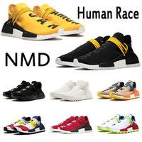 ingrosso esempio uomini calzature-adidas nmd human race percorso razza umana hu Pharrell Williams per gli uomini donna secchione campione nero scarpe giallo stilista di moda allenatore sport tennis