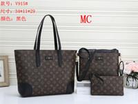 Wholesale set mother bags for sale - Group buy Europe women bag High capacity Shoulder leather Travel Messenger bag unids set Mother Package bag