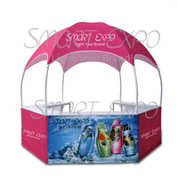 Hot Sale Outdoor Customize Super Advertising Round Dome Kiosk Tent Portable Collapsible and Mobile Food Kiosks Booth Tent