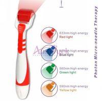 Wholesale dermaroller for stretch marks for sale - Group buy Photon Roller LED Derma Roller Microneedle dermaroller skin care device for home use