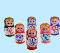 Wholesale russian doll sets for sale - Group buy Wood Tourist Handicraft Dolls Five Sets of Russian Cartoon Handicraft Souvenirs