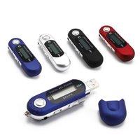 usb flash müzik çalar toptan satış-Taşınabilir Mini USB Flash MP3 Çalar, LCD Ekran Destek Flaş 32GB TF Kart Yuvası Dijital mp3 müzik çalar, FM Radyo + Kulaklık