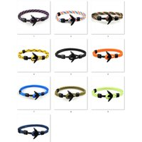 Wholesale anchor rope bracelet resale online - New aircraft Bracelet European and American trend ship anchor men s polyester rope hand ornaments fashion accessories