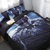 juegos de cama edredón rey al por mayor-Marvel Black Panther Juego de cama doble Funda nórdica Funda nórdica Funda de almohada Juego de ropa de cama impresa Queen King Doble individual completa Reino Unido EE.UU. tamaño