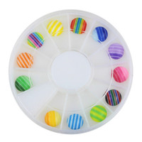 новые блестящие подсказки оптовых-3D Nail Art Rhinestones Glitters Acrylic Tips Decoration Manicure Wheel New Hot nail accessories and tools jewelry organizer #9