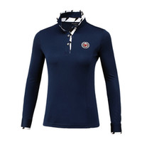 женский гольф  оптовых-New Women Golf Shirts Autumn Women Long Sleeve Shirts Breathable Fitness Sport Golf Polo Outdoor Sportswear