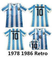 ingrosso pullover argentina-1986 Argentina Retro Soccer Jersey Maradona 86 Vintage Classic 1978 Retro Argentina Maradona 78 Maglie calcio Maillot Camisetas de Futbol