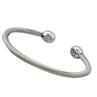 Wholesale copper magnetic therapy resale online - Women Men Daily Pain Therapy Gift Magnetic Jewelry Open Cuff Brass Simple Bracelet Exquisite Health Care Lightweight Bangle