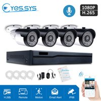 Eyes.sys H.265 4CH POE CCTV 4PCS HD 2.0MP Audio IP Camera Home Security System