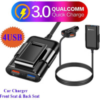 Wholesale usb pc dock for sale - Group buy QC A W Usb Ports Fast Quick Charging Auto Power Adapter Car Charger For iphone x Samsung Htc LG androd iphone gps pc