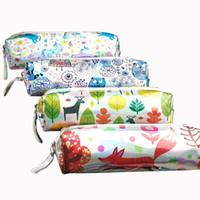 мешок для животных оптовых-Kawaii Animal Pencil Cases Cute Unicorn Pen Case Laser Pencil Bag Pouch  Box Korean Stationery Office School Supplies