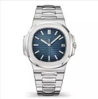 relógios de homem venda por atacado-2019 luxo top nautilus relógio esportivo homens automáticos monement relógios rosa caixa de ouro brown dial inoxidável mens mecânica relógios de pulso