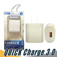 Wholesale iphone power bank adapter for sale - Group buy QC3 Fast US EU Wall Charger Adapter Quick Charging Qualcomm Quick Charge For Samsung s7 edge s8 Tablet pc Android Phone