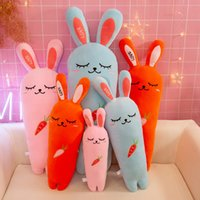 Wholesale rabbit doll wedding for sale - Group buy Adorable Rabbit Carrot Stuffed Animal Cartoon Plush Toy Sleeping Rabbits Appease Doll Children Birthday Gift Wedding Decoration ym O1