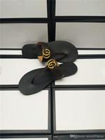 ingrosso sandali donna in oro nero-Marmont Black Gold Logo Black Mule Perizoma Flat Flip Flop Sandalo NEW Web Strap Sandalo Womens NEW Sandalo Slippers Scarpe Infradito Con Box