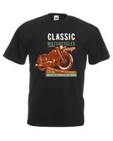 diseño gráfico clásico al por mayor-Classic Motorcycles Garage Graphic Design Quality camiseta para hombre unisex