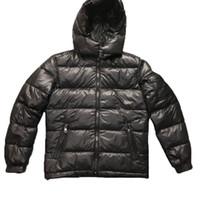 casacos asiáticos para homens venda por atacado-Mens Designer Brasão Jacket Parka com capuz Homens Winter casaco corta-vento Parkas jaquetas de Luxo Grosso Jackets Mens Asian tamanho da roupa dos homens