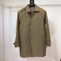 Wholesale raincoat fashion women resale online - 2019 latest top hip hop artists fashion trench coat waterproof raincoat jacket black men and women