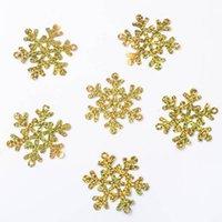 gold konfetti großhandel-A31031 Weihnachten Schneeflocke Konfetti Für Hochzeit Universal Throw Konfetti Weihnachten Tischdekoration Für Home Party