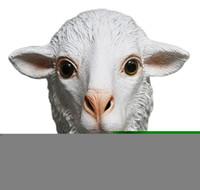 латексная маска для собак оптовых-Rubber Animal Mask  Sheep Goat Farm Animal Costume Dog Mask Latex Party Halloween Masquerade funny