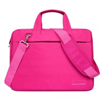 laptop notebook saco 17 venda por atacado-Laptop bag case 17 polegada Nylon airbag ombro bolsa de computador sacos de mensageiro impermeável mulheres homens Notebook bag (Rose Red No Ai