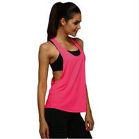sexy weisse damen röhre großhandel-Neue Design Jersey Frau T-shirt Crop Top Yoga Gym Fitness Sport Ärmel Weste Singlet Lauftraining Kleidung für Frauen