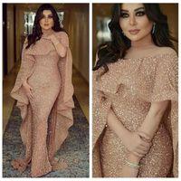 Wholesale ladies navy jackets resale online - Bling Bling Mermaid Slim Prom Dresses Arabic Dubai With Wrap Custom Formal Ladies Evening Party Gowns