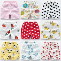 Wholesale 4t boys underwear for sale - Group buy 24 colors Boys shorts summer boy girls cotton cartoon printed short pant kids designer clothes thin open pants underwear trouslers clothes