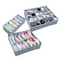 organizatör fırçası dolabı toptan satış-3 adet / takım Basit Ev Eşyaları Dolap İç Organizatör Çekmece Bölücü Ev İç Sutyen Çorap Kravat Depolama