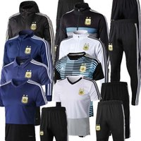 ingrosso tuta da tuta da uomo-2018 2019 Giacca da allenamento Argentina Giacca da uomo 18 19 Giacca da calcio Argentina Set da tuta Tuta da calcio Pantaloni neri Sportwear