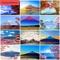 Wholesale diy digital painting resale online - Mount Series Oil Painting By Number Landscape Digital Oil Painting Handmade Gift Diy Abstract Home Decor Diy Picture