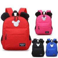linda mochila de guarderia al por mayor-Lindo bolsos de escuela del niño del cabrito Mochila Kinder Niños Niñas Niños roja Mochila Mochila los niños del bebé bolsas impermeables diarias