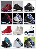 Wholesale cool gym shoes for sale - Group buy With box XI Platinum Tint Basketball Shoes s Concord bred Cap and Gown Cool Grey GYM red chicago Mens Womens Sports Shoes